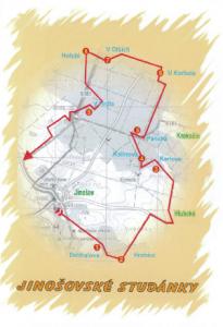Mapa Jinošovských studánek